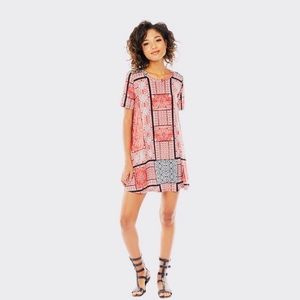 BCBG patchwork print dresss